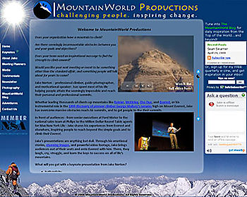 The new MountainWorld Productions website!