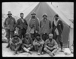 The 1924 Everest Expedition team