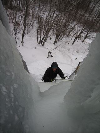 Ice Climbing at Frankenstein