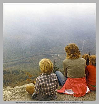 Jake Norton and family on the summit of Mt. Chicorua, New Hampshire, circa 1980.