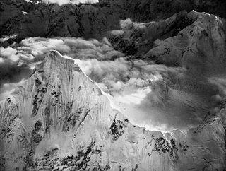 Bradford Washburn, Mt. Huntington, looking south west at twilight,1964.