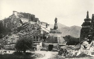 The Potala Palace in Lhasa, 1904.