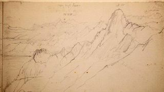 Everest region sketch by Joseph Hooker